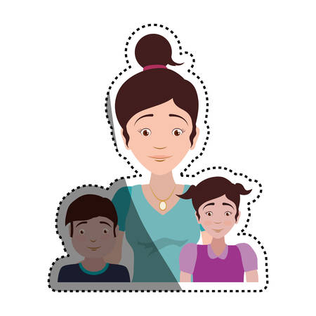 People relationships and family vector illustration graphic design