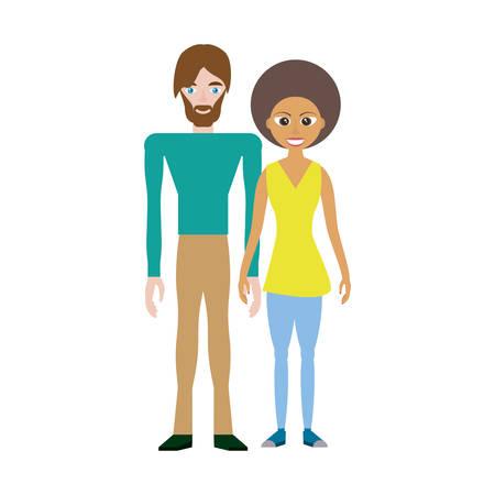 Lovely Couple vector illustration