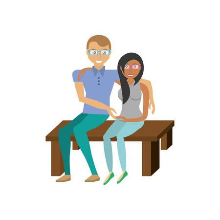 couple sitting together romance