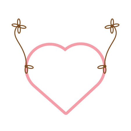 pink heart hang decoration vector illustration eps 10 Illustration