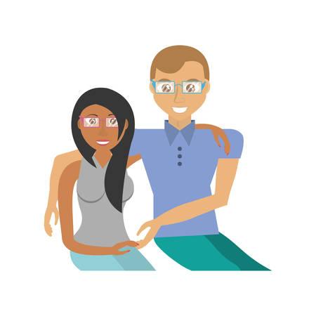 lovely couple romantic image vector illustration eps 10