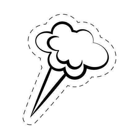bubble speech cloud cartoon vector Illustration