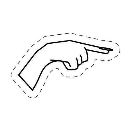 hand wees vinger vector illustratie