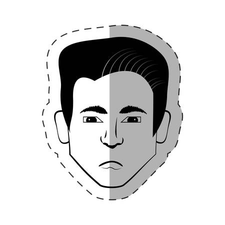 male head look expession vector illustration eps 10