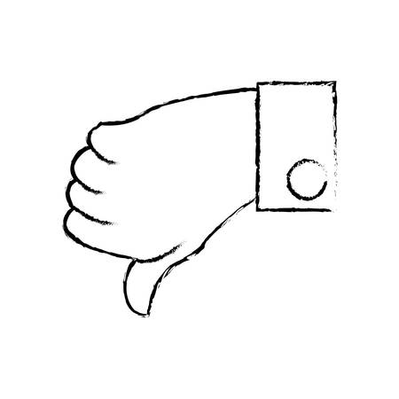 Hand male unlike down vector illustration eps 10. Illustration