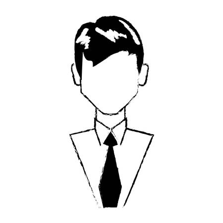 Portrair male person character vector illustration eps 10.
