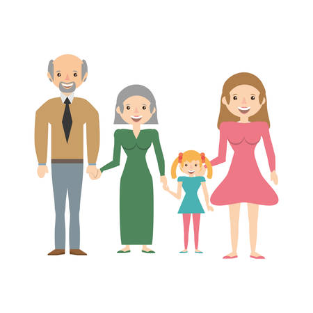 Portrait people family happiness vector illustration eps 10.