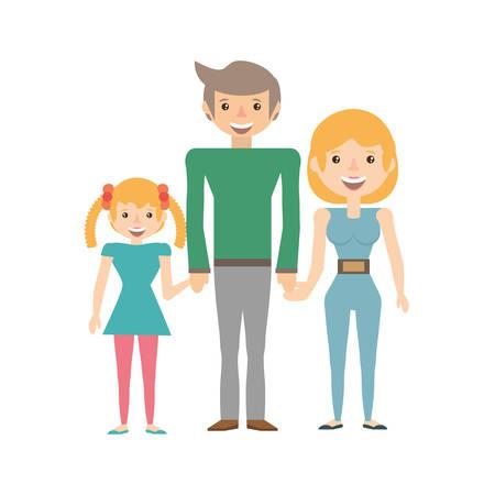 happy family love members vector illustration eps 10