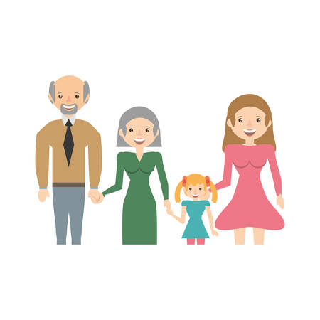 happiness people: Portrait people family happiness vector illustration eps 10.