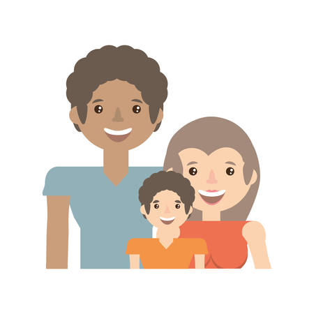 Happy family love members vector illustration eps 10. Illustration