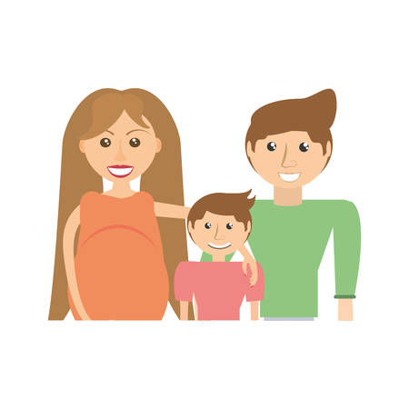 Family pregnancy couple image vector illustration eps 10.