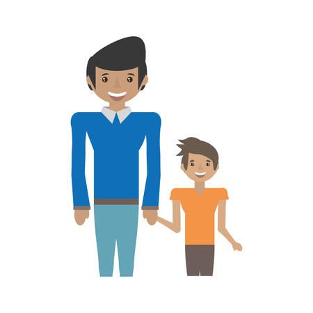 dad and kid infant image vector illustration eps 10