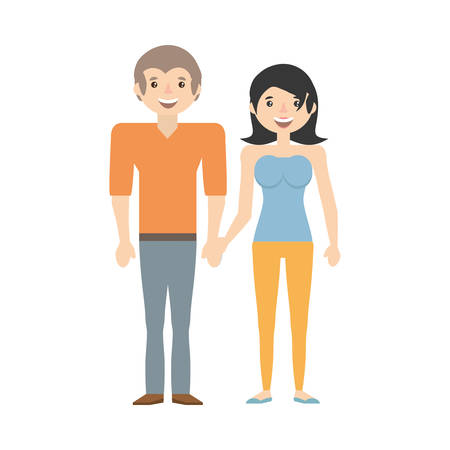 Couple together lovely image vector illustration eps 10.