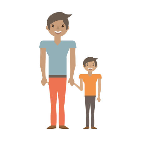 Dad and kid infant image vector illustration eps 10. Illustration