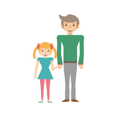 Dad and kid infant image vector illustration eps 10. Illustration