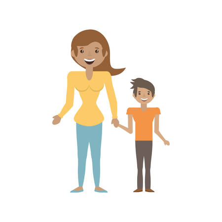 Mother and her child image vector illustration eps 10. Illustration