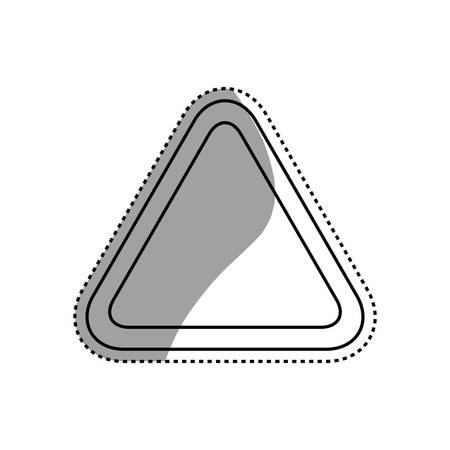 Caution sign blank vector icon illustration uncolored. Illustration