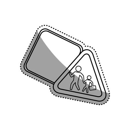 Warning sign traffic caution vector icon illustration. Illustration