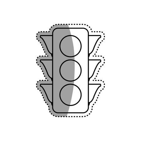 Semaphore traffic light post vector icon illustration.