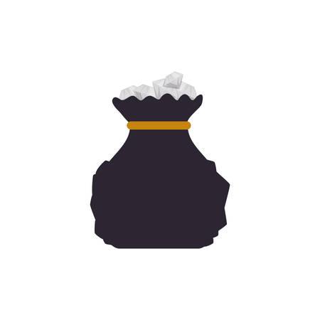 worth: Bag diamonds stock vector icon illustration graphic design. Illustration
