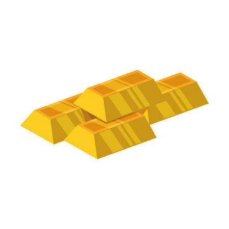 Goldbars ingots gold vector icon illustration stock.