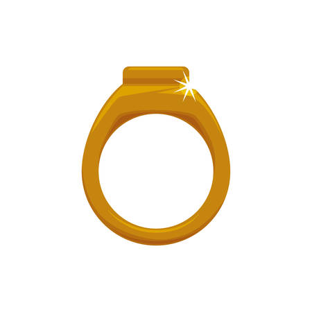 Ring gold jewelry vector icon illustration graphic design.
