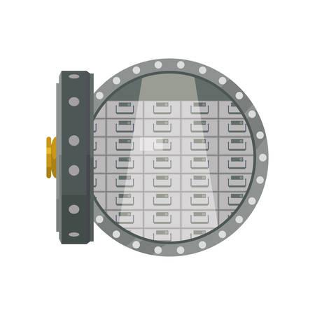 vault safe deposit bank vector icon illustration Illustration