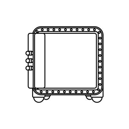Safe strongbox opened vector icon illustration graphic design. Illustration