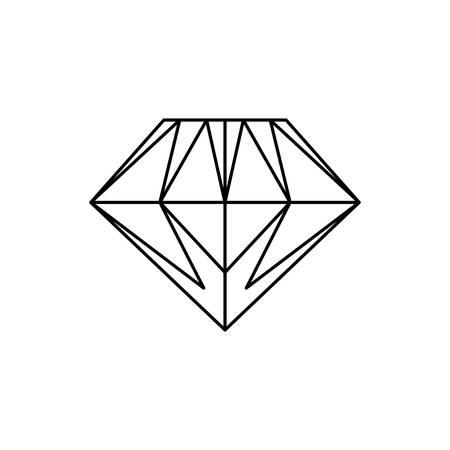 Gemstone diamond jewel vector icon illustration graphic design.