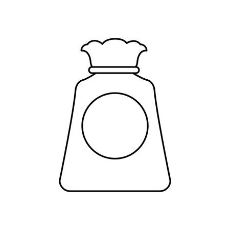 Bag sack object vector icon illustration graphic design.
