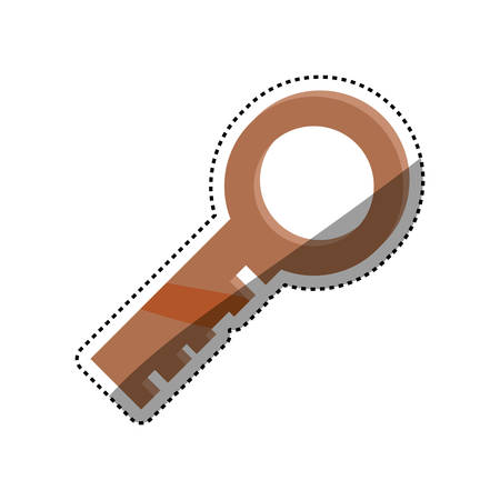 key security golden safety vector icon illustration