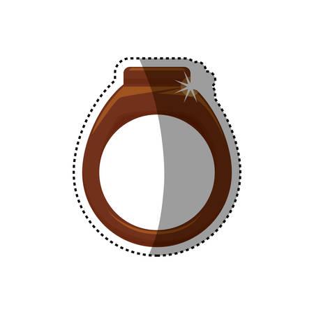 professionally: ring gold jewelry vector icon illustration graphic design Illustration