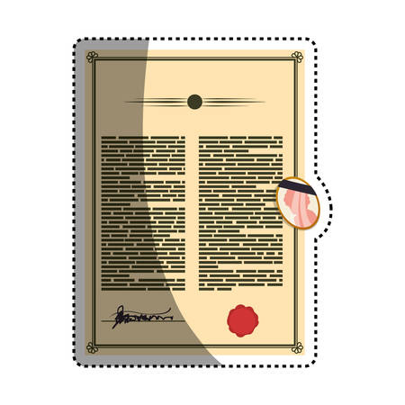 Testament document official heritage vector icon illustration.