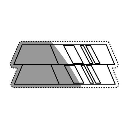 ingots gold bars vector icon illustration graphic design