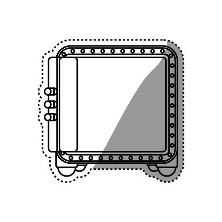 mailed: safe strongbox opened vector icon illustration graphic design Illustration