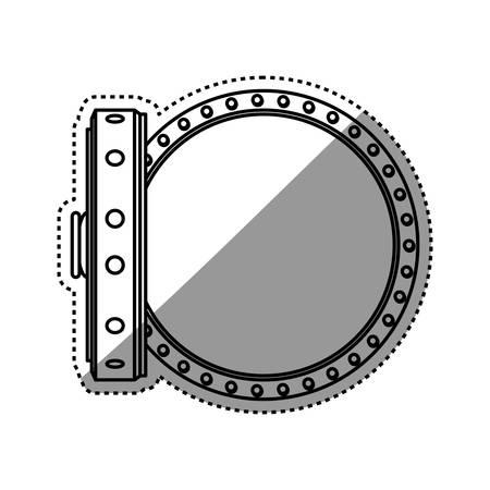 vault safe deposit bank empty vector icon illustration