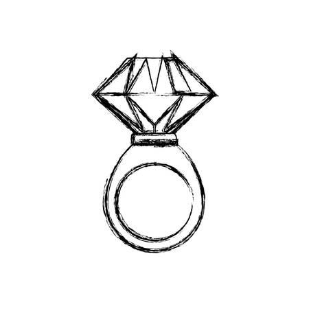 ring gold jewelry gemstone icon vector illustration