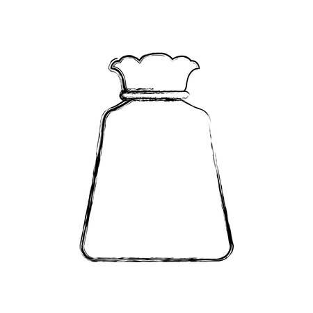 bag sack object vector icon illustration graphic design