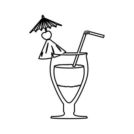 glass cocktail straw vector icon illustration graphic design