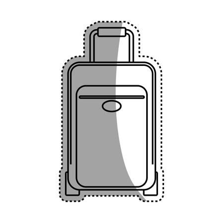 luggage case handle vector icon illustration graphic design Illustration