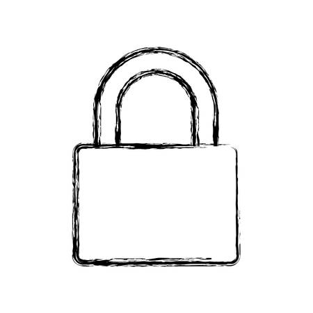 padlock security object vector icon illustration graphic design