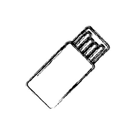 hard drive: usb hard drive pen vector icon illustration