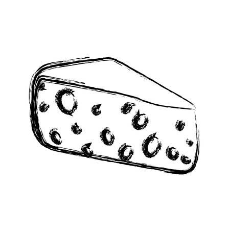 Yellow cheese cheddar food vector icon illustration Illustration