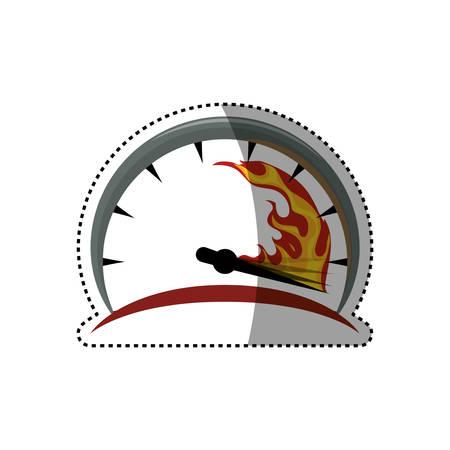 Speedometer power car icon vector illustration graphic design