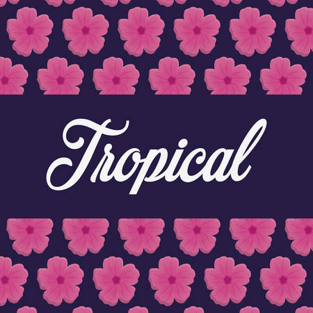 illustraiton: tropical flowers. colorful design. vector illustraiton icon