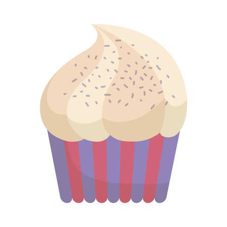 cupcake icon over white background. colorful design. vector illustration