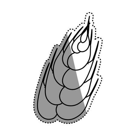Wheat natural food vector illustration graphic design Illustration
