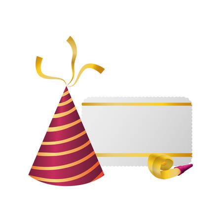 Birthday hat decoration vector illustration graphic design Illustration