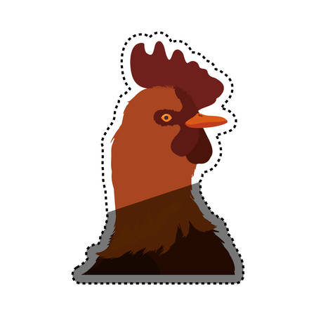 roasted: Rooster farm animal vector illustration graphic design Illustration