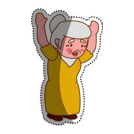 grandmother elder cartoon icon vector illustration graphic design
